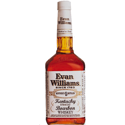 Evan Williams White Label 100 Proof Bourbon Bottled in Bond
