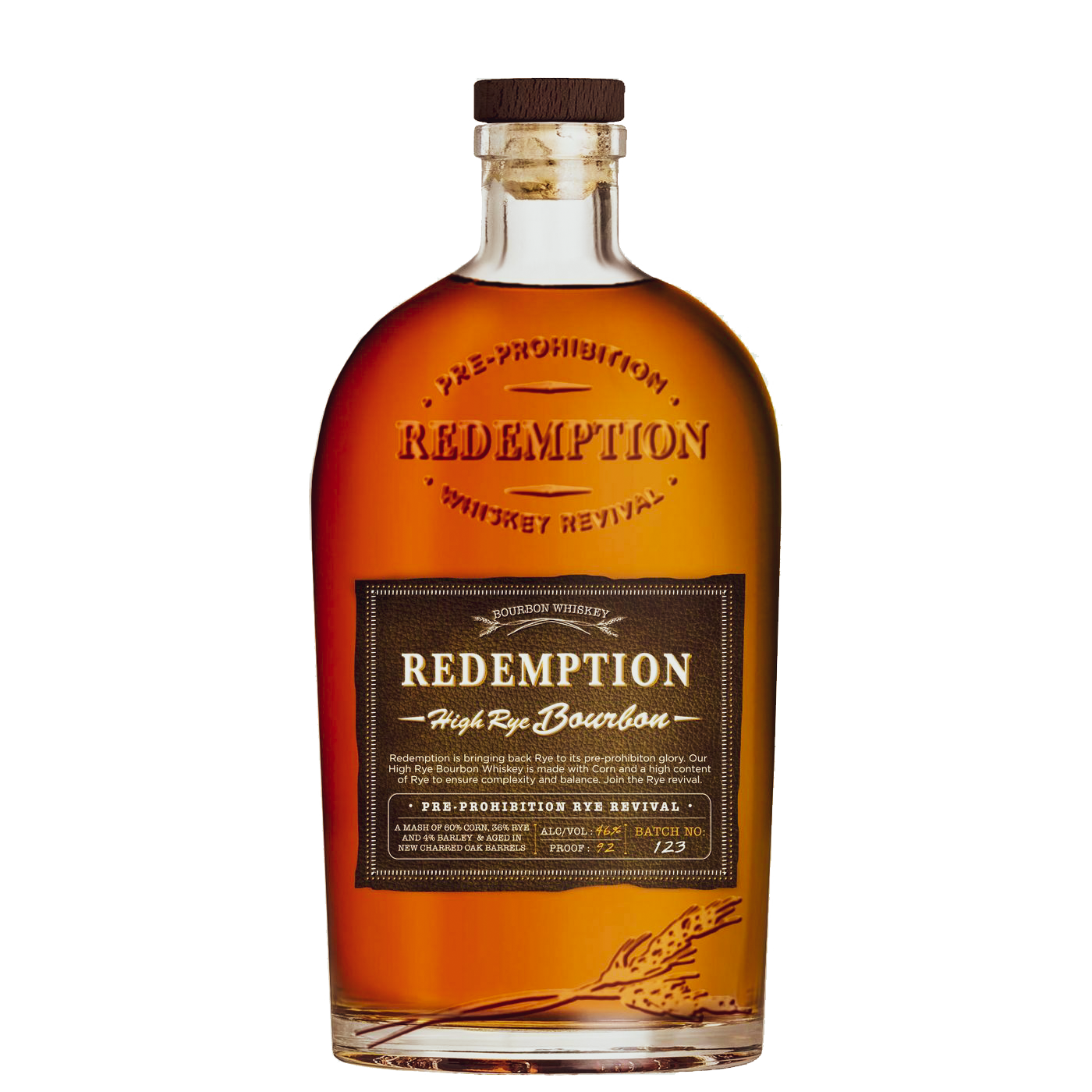 Redemption High Rye Straight Bourbon Whiskey